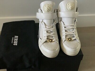 Versace Versus High Top Sneakers White Size 6.5