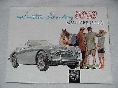 Prospekt brochure AUSTIN Healey 3000 Convertible SR918