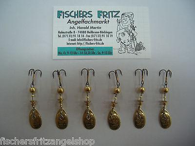 5  x Mepps Aglia gold + 1 Gratis ( 6 Stück ) Gr. 0 mit  2,5 g Spinner