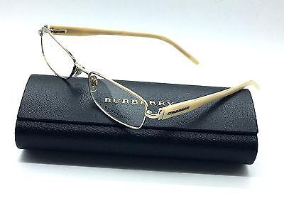 Burberry Womens Gold Eyeglasses B 1066 1002 52 mm Demo Plastic lenses
