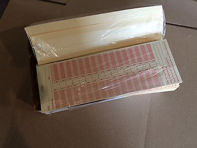 Time Cards Lot Of 1000