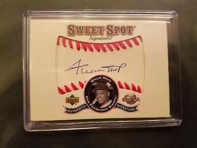 Willie Mays 2001 Upper Deck Sweet Spot Signatures Auto -