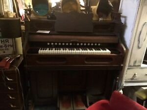 Antique organ , and phonograph