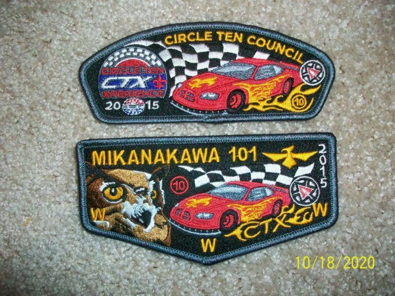 CIRCLE 10 COUNCIL MIKANAKAWA LODGE 101 CTX 2015 Flap and CSP