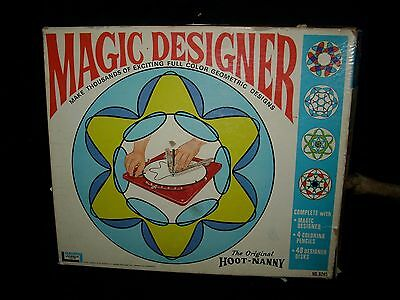 Vintage 1967 Magia Diseño Espirógrafo Hoot Nanny Kit Plantilla Dibujo Imágenes