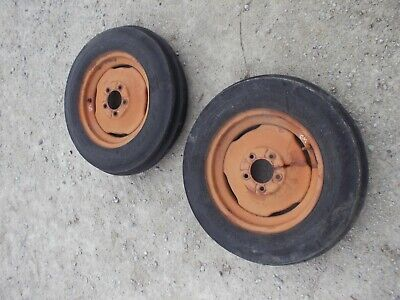 Allis Chalmers Wd45 Wd 45 Tractor Ac Rims 5.50 X 16 6ply Armstrng Front Tires