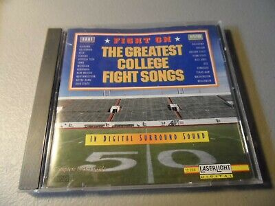 Fight On The Greatest College Fight Songs CD Alabama USC Michigan NOTRE DAME Fla