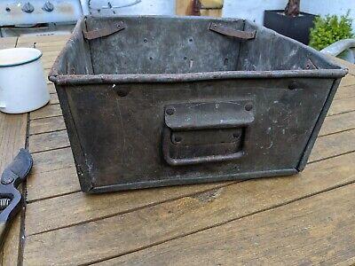 Vintage Metal Tote Pans -Up Cycling/Workshop/Engineering/Mechanics Storage Boxes