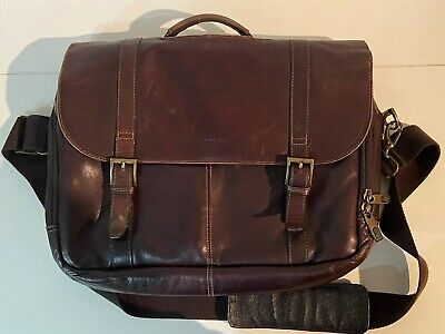 Vintage leather Samsonite bag.