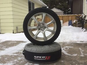 Set of Audi winter tires on rims