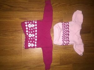 Two American Girl Doll Sweaters