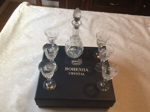 Bohemia crystal set; Made in Czech Republic, 6 glasses/decanter