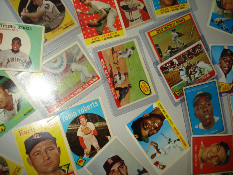 1950's & 1960's BASEBALL HALL OF FAMERS 1950-69 HOFs MANTLE WILLIAMS AARON MAYS
