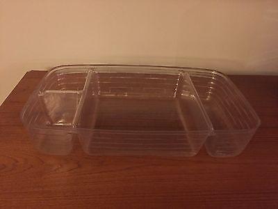 Longaberger Medium Gathering Basket 4 Section Divided Plastic Protector 45942