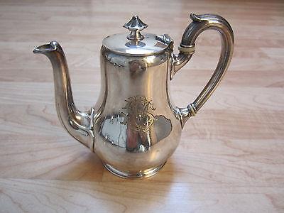 *1245* Christofle Kaffeekanne um 1870 Uni Gourde versilbert