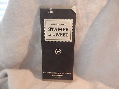 Vintage Associated Stamps of the West Book by Tide Water Oil Company Empty Tydol