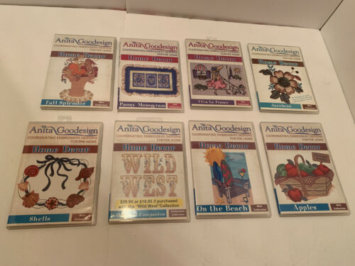 Lot 8 Anita Goodesign Home Decor Collections Embroidery Machine CDs
