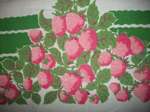 Vintage Strawberry Tablecloth