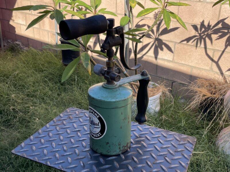 RARE PROPANE VINTAGE BLOW TORCH MUTUAL GAS SERVICE EQUIPMENT