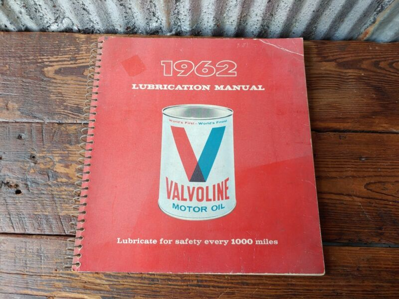 1962 Valvoline Lubrication Manual Garage Book Oil Can Chevrolet Ford