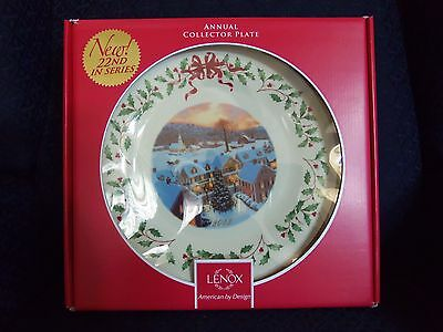 Free S H New Lenox 2012 Annual Holiday Christmas Collector Plate New In Box