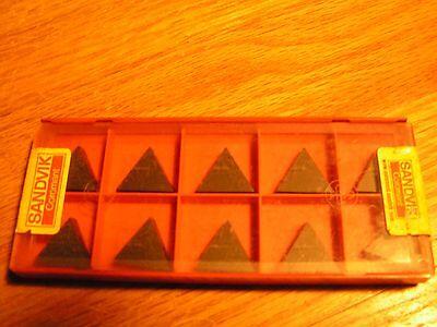 Carbide Insert Sandvik Coromant Tpun 220408 -1set 10pcs 3015 K15 P15 Triangle