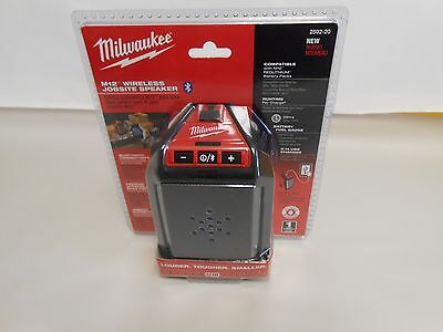 NEW Milwaukee 2592-20 M12 Wireless Jobsite Speaker
