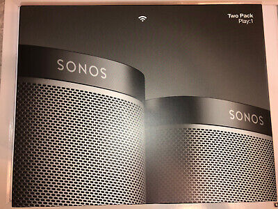 2 Pack Brand New Sonos Play 1 Wireless WiFi Streaming Compact Speakers