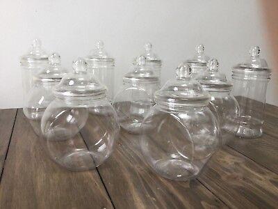10 x Plastic Sweet Jars Candy Cart Buffet Table~ Bar Mitzvah Weddings Kids Party](Buffet Jars)