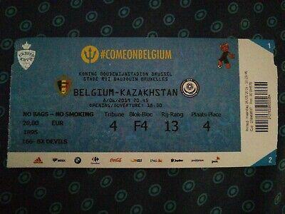 TOP Ticket : Belgium - Kazakhstan 08.06.2019 Euro 2020 Qualifications