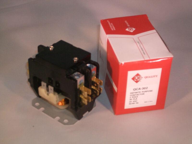 30 amp 2 pole 24 vac NEW Definite Purpose contactor relay HVAC FREE SHIP