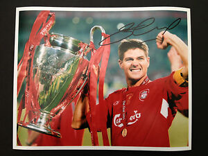 Limited Edition Steven Gerrard Liverpool Signed Photograph + CERT 2005 FINAL
