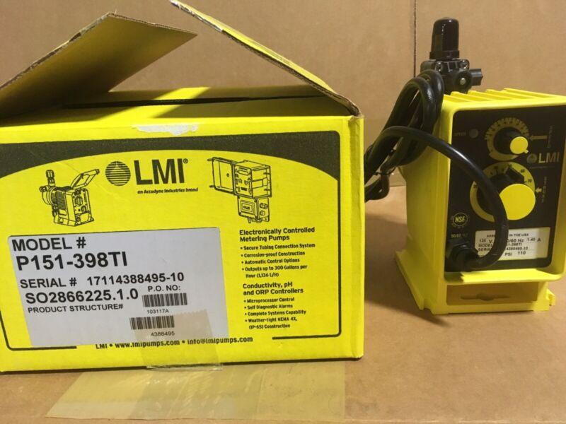 LMI Chemical Metering Pump P151-398TI 1 GPH 110 psi PVDF Manual Control