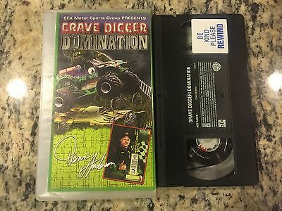 GRAVE DIGGER DOMINATION RARE OOP VHS 2001 MONSTER TRUCKS BEST OF CRAZY (Best Monster Truck Crashes)