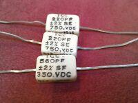 SILVER MICA CMR05E560FPDM CAPACITOR 10PCS  56PF-500V 1/% MIL SPEC