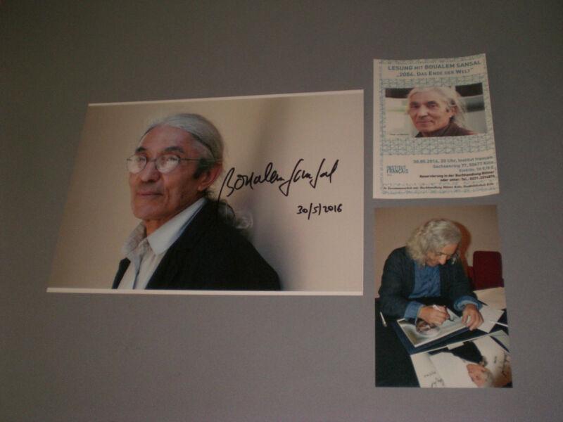 Boualem Sansal 2084 writer signed autograph Autogramm 8x11 photo in person