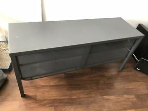 TV Stand- Modern, Steel, Dark Gray