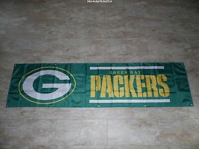 Green Bay Packers NFL Banner / Fahne / Flagge -Football- ca. 240x60 cm -#2 -NEU