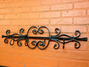 Coat Rack Wall Mounted ( 4 Hook) Wrought Iron