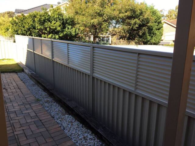 Colorbond Fence Louvre Height Extension Panels 600mm H