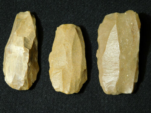 Lot of THREE! 3,000 to 8,000 Year Old! Neolithic CORES From Dakhla Morocco 89.gr