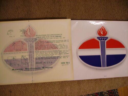 "Amoco Oil Gas Pump Sticker ORIGINAL LARGE 12"" x 9"" Beautiful Sticker & Very Rare"