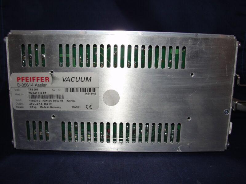 Pfeiffer Vacuum TPS 201 Turbo Pump Controller PM 041 819 AT