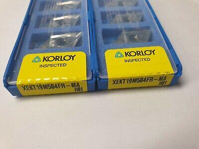 KORLOY XEKT 19M504FR-MA H01 (NOSE R =0.4R)   / 10PCS(5PCSx2BOX)
