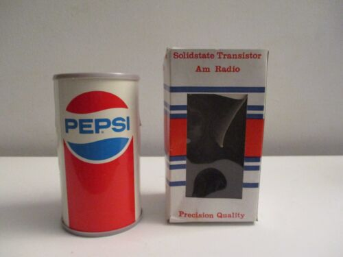 Vintage Pepsi-Cola Soda Can Transistor Radio NOS in Box