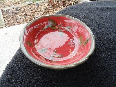 Tracy Porter Octavia Hill Garden Green Weave Rim Fruit Berries Red Soup -
