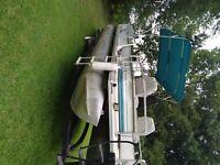 1995 sun tracker pontoon. Project boat