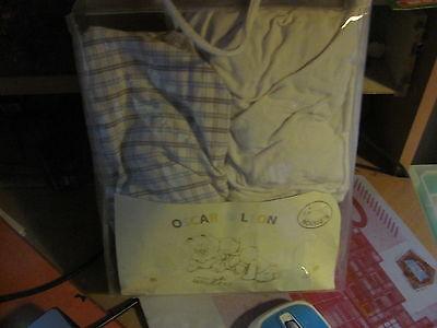 2 petit  drap  pour   lit  cage  noukies  oscar et un blanc