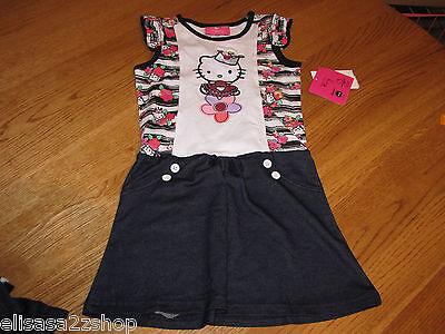 Mädchen Kleinkind Hello Kitty 2T HK5701900 Hk Fltr Ärmel Kleid mit / Sticken Nwt
