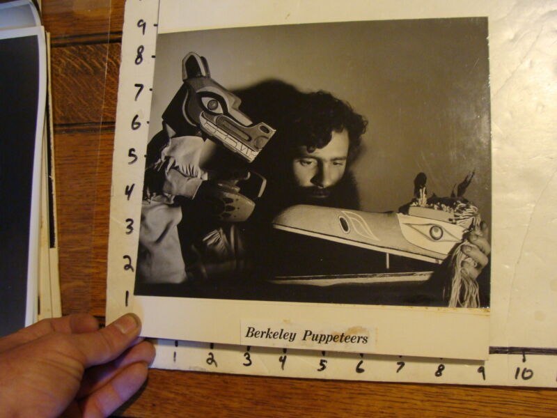 Vintage MARIONETTE PHOTO, abstract: BERKELEY PUPPETEERS native american eskimo